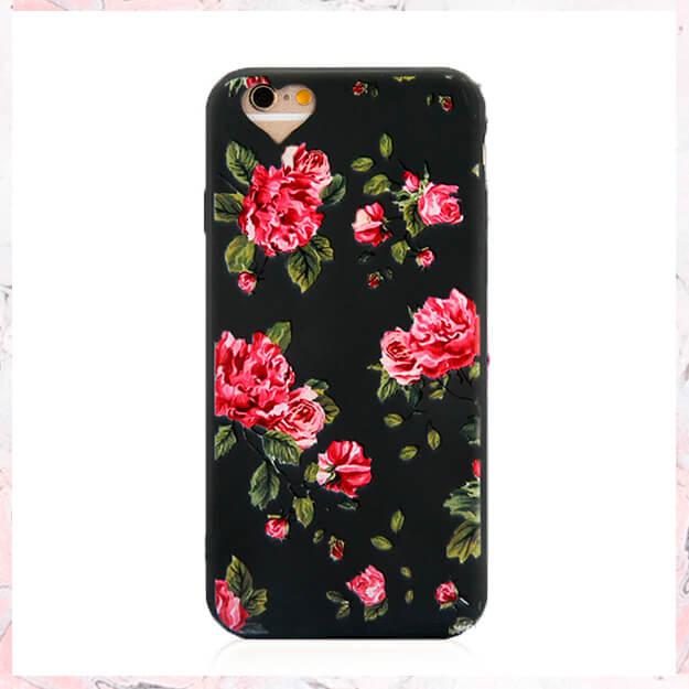 Flowers black pink