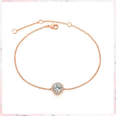 Rosa guld armbånd