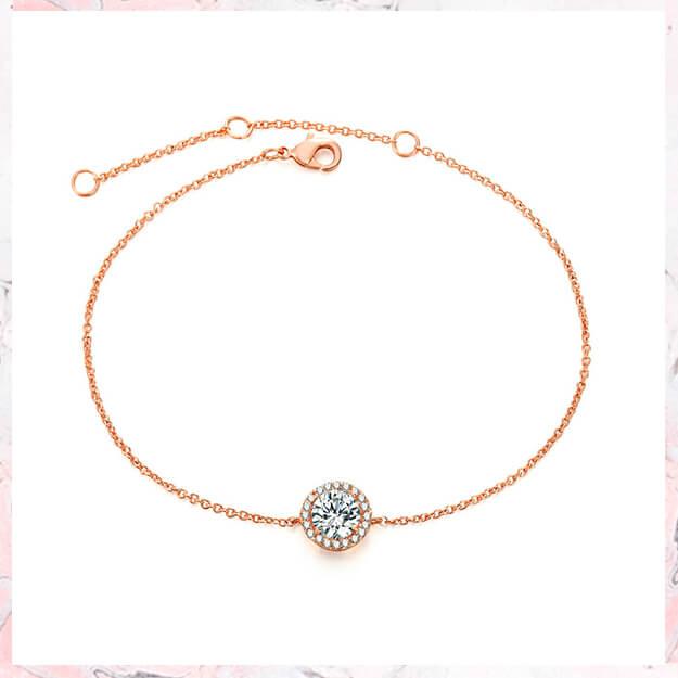 Everlin – Rosa guld med CZ sten