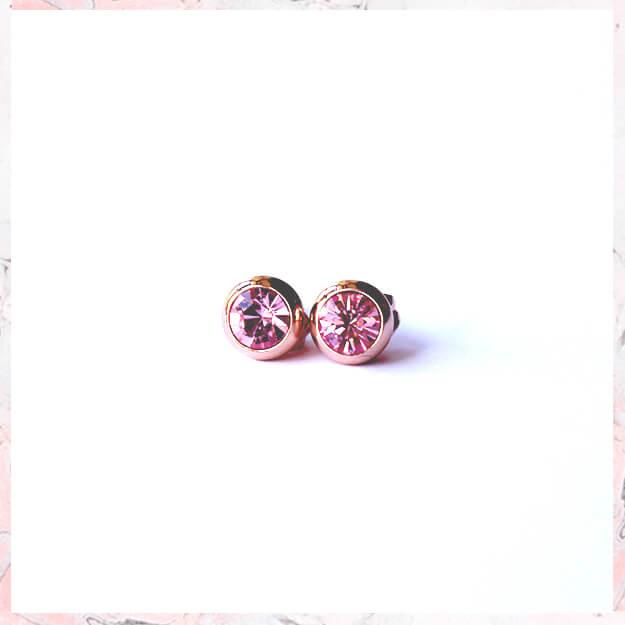 EMMA – Rosa guld med pink krystal