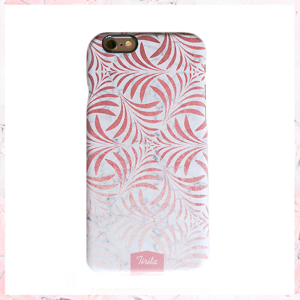 Marmor – rosa leaves Iphone