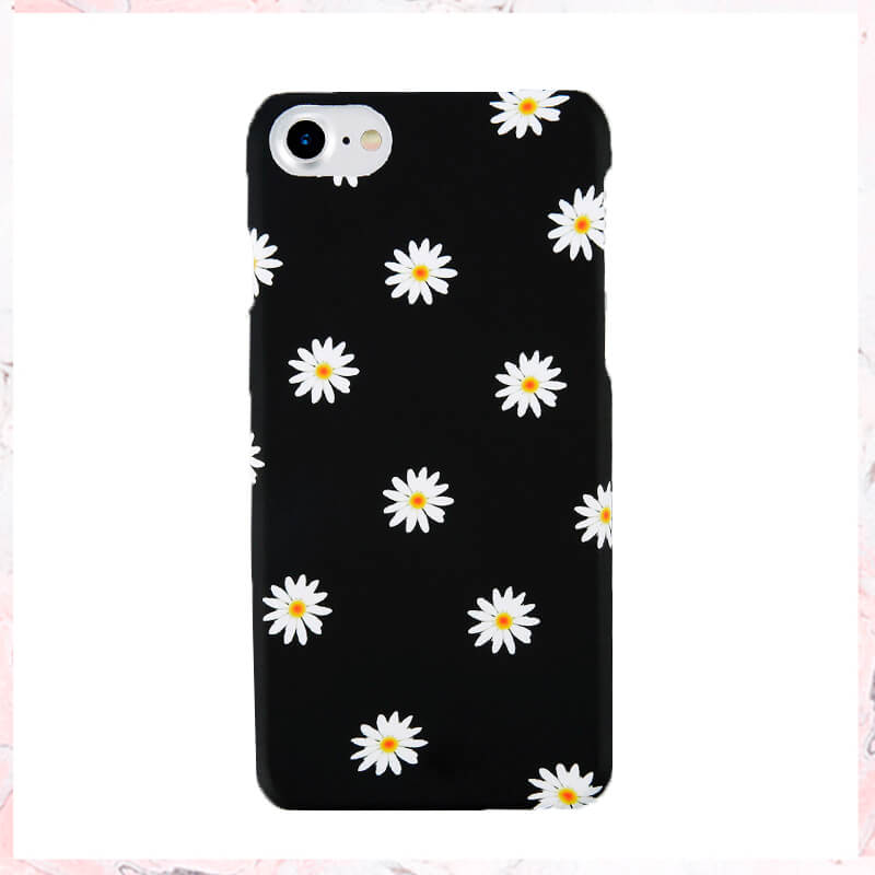 Black w. daisy flowers