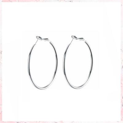 hoop øreringe i sølv