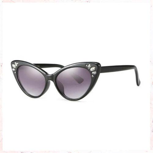 solbrille med sten og glitter