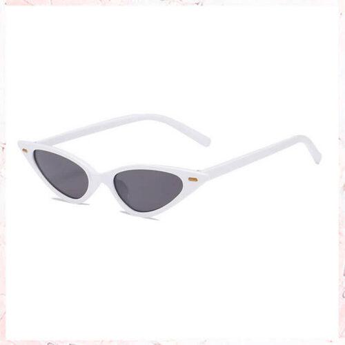 Hvide cateye solbriller