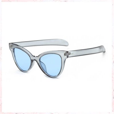 blå cateye solbriller