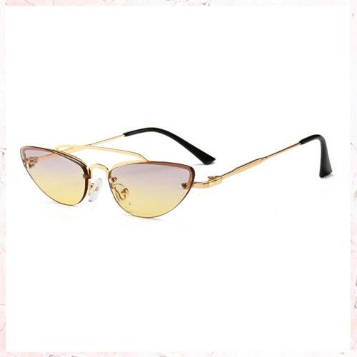 solbriller med guld stel