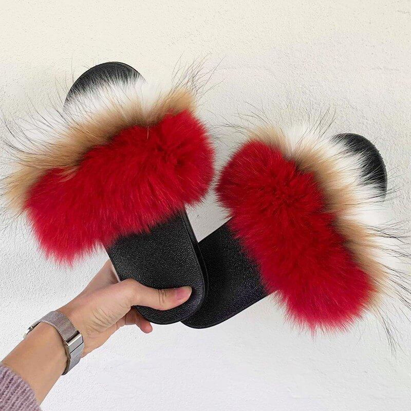 Triple rød slippers