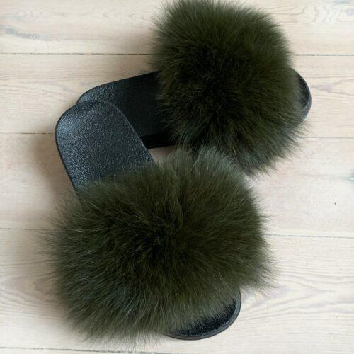 army pelsslippers