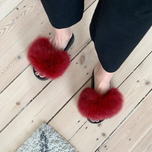 røde slippers